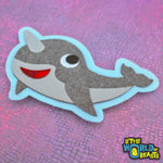 Felt Animal Patch - Narwhal