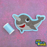 Vinnie the Narwhal - Felt Animal - Sew on Patch - Little World of Beasts