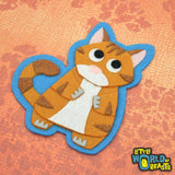 Orange Tabby - Felt Cat Applique