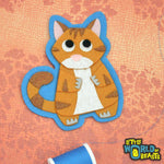 Tabby Cat - Handmade Felt Patch - Little World of Beasts