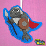 Felt Elephant Seal Ornament - Palace Guard