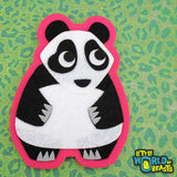 Handmade Felt Patch - Panda