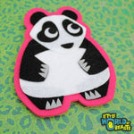 Laurence the Panda Patch - Iron On or Sew On