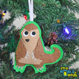 Pangolin - Felt Christmas Tree Ornament  - Little World of Beasts