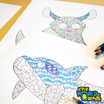 Ocean Animals - 4 Pattern Coloring Pages Download