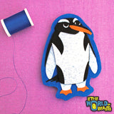Penguin - Felt Animal - Sew On or Iron On Patch