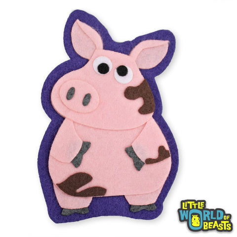 Sir Francis the Pig - Iron On or Sew On Patch - Little World of Beasts