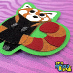 Red Panda Felt Animal Iron or Sew on Patch