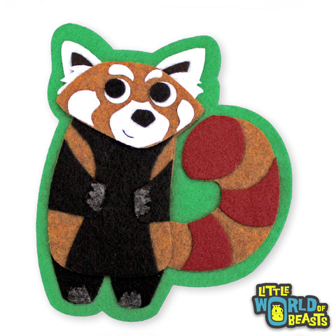 Felt Animal Iron or Sew on Patch - Red Panda