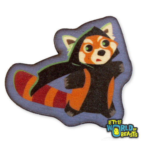 Red Panda Rogue - Wooden Pin