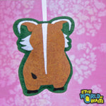 Handmade Felt Animal Christmas Ornament - Red  River Hog