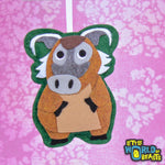 Felt Animal Ornament - Red River Hog