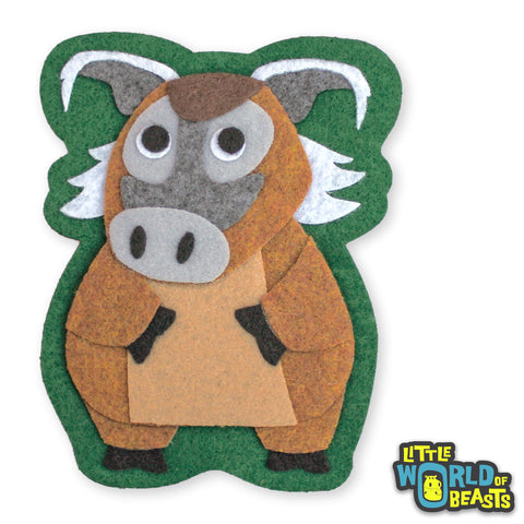 Boris the Red River Hog - Felt Animal Applique