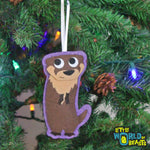 Handmade Felt Christmas Ornament - River Otter