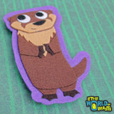 River Otter - Felt Animal Applique  - Little World of Beasts
