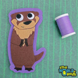 Bastain the River Otter - Felt Animal Sew On or Iron On Patch - Little World of Beasts