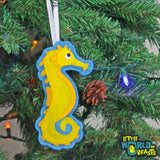 Felt Christmas Tree Ornament - Sea Horse