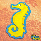 Archibald the Sea Horse Patch - Iron On or Sew On - Little World of Beasts