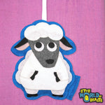 Sheep -Felt Animal Christmas Ornament