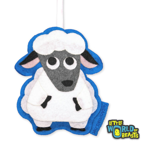 Sheep - Felt Farm Animal - Christmas Ornament - Little World of Beasts