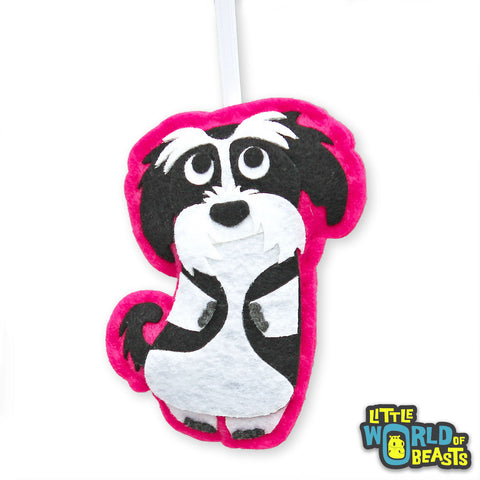 Shih Tzu - Felt Dog Holiday Tree Ornament