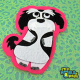 Alvin the Shih Tzu - Felt Dog - Iron On or Sew On Patch