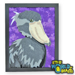 Shoebill - Felt Bird Portrait