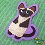Genevieve the Siamese - Felt Cat Applique Sew On or Iron On Patch -