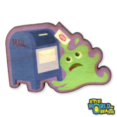 Green Slime Votes- Wooden Pin
