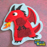 Red Dragon - Patch - Iron on or Sew on