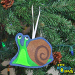 Felt Christmas Tree Ornament - Snail