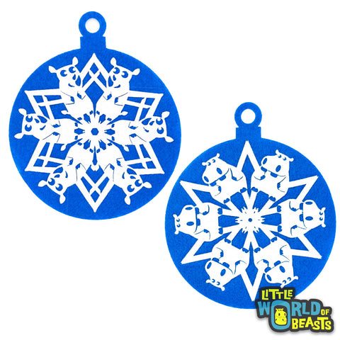 BeastFlake - Oversized  Snow Flake Ornament