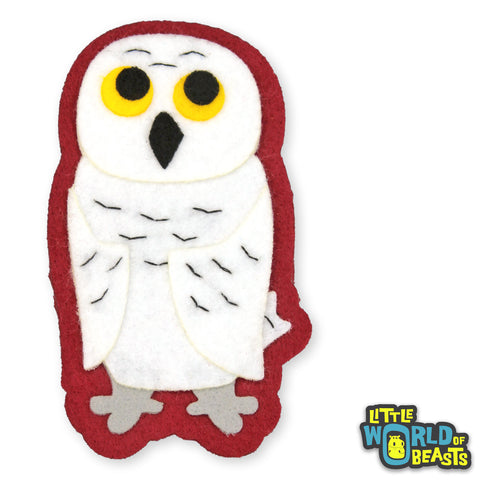 Owl - Felt Bird Applique - Little World of Beasts
