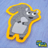 Squirrel - Woodland Animal Applique