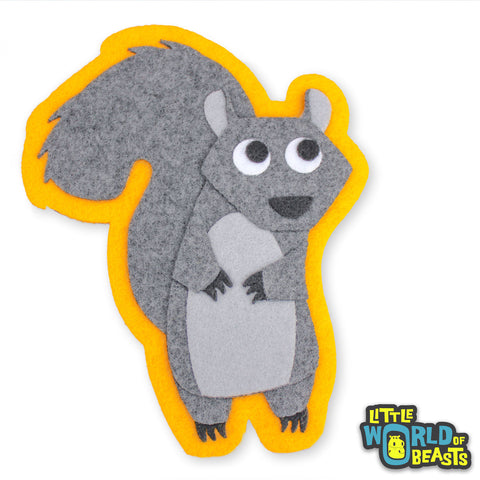 Greta the Squirrel Patch - Sew on or Iron on Woodland Applique