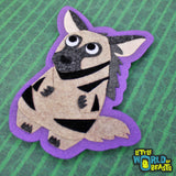 Ichabod the Striped Hyena - Sew On or Iron On Felt Animal Patch