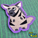 Striped Hyena Felt Patch