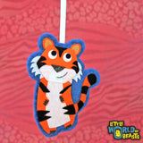 Tiger Personalized Felt Ornament