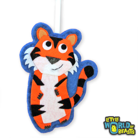 Tiger - Felt Zoo Animal - Christmas Ornament - Little World of Beasts
