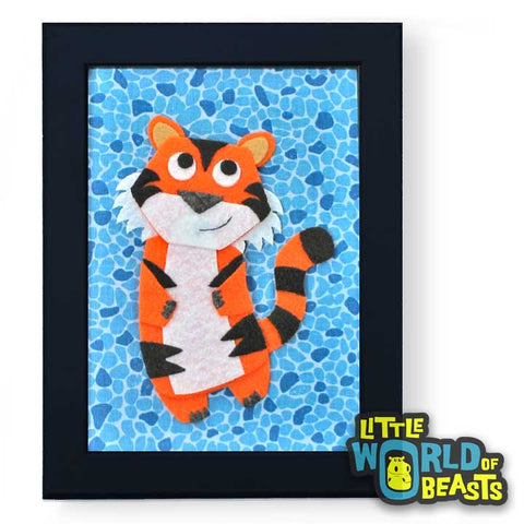 Kiki the Tiger Framed