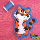 Kiki the Tiger - Sew On or Iron on Felt Animal Patch  - Little World of Beasts
