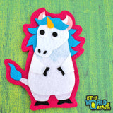 Charlemagne the Unicorn Patch - Iron On or Sew On Applique - Little World of Beasts