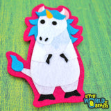 Unicorn - Felt Fantasy Animal Patch