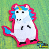 Mythical Creature - Felt Animal Applique - Unicorn