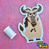 Wildebeest - Felt Animal Patch - Sew On or Iron On