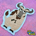Felt Animal Patch - Wildebeest