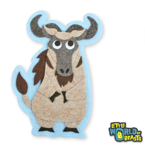 Wildebeest - Felt Animal Patch