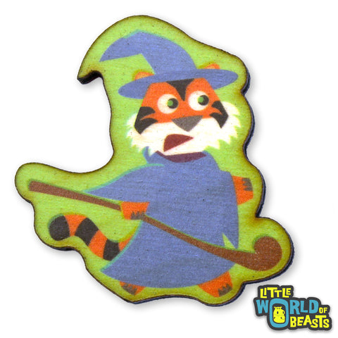 Wizard Tiger - Adventure Beast Wooden Pin (2 Styles)