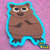 Wombat - Australian Animal Iron On Patch