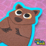 Wombat Felt Animal Patch - Little World of Beasts